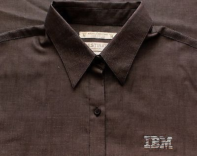 Business Machines - Womens IBM International Business Machines Long Sleeve Embroidered Oxford Shirt