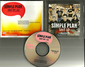 SIMPLE-PLAN-Shut-up-2004-USA-PROMO-Radio-DJ-CD-single-PRCD301663