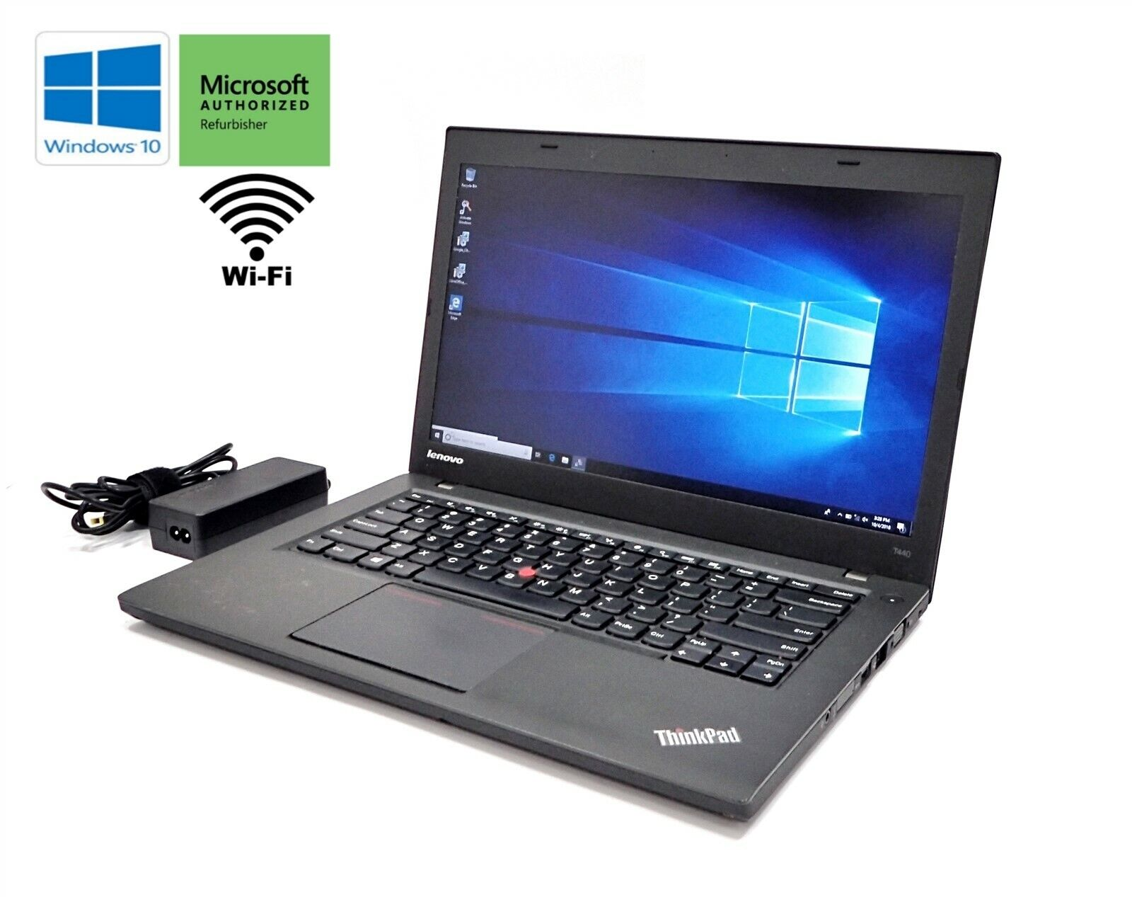 "Laptop Windows - Lenovo ThinkPad T440 14"" Laptop Core i5-4300U 1.9GHz 500GB HDD 4GB Windows 10 **"