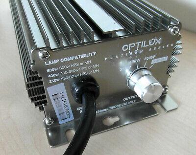 Optilux Platinum Digital X 600W Ballast 250 400 600 660w for HPS MH Hydroponics