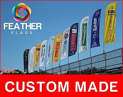 15 Full Color Custom Swooper Advertising Flag Feather Banner Pole Spike