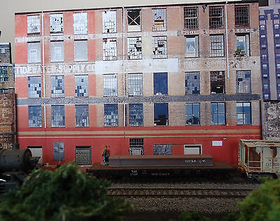 151 Ho Scale Background Building Flat   Tidewater    Free Shipping