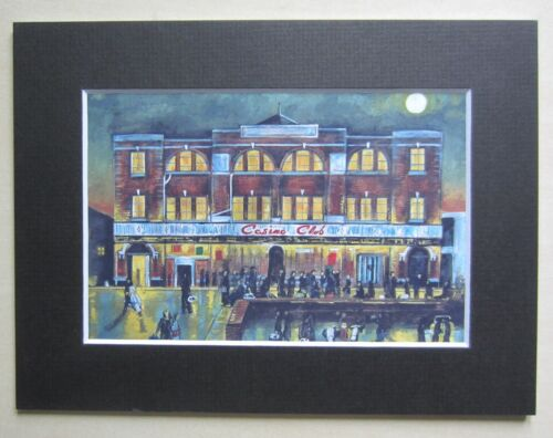 """Northern Soul; Wigan Casino; Mounted Print; """"Moonlight, Music and You"""""""