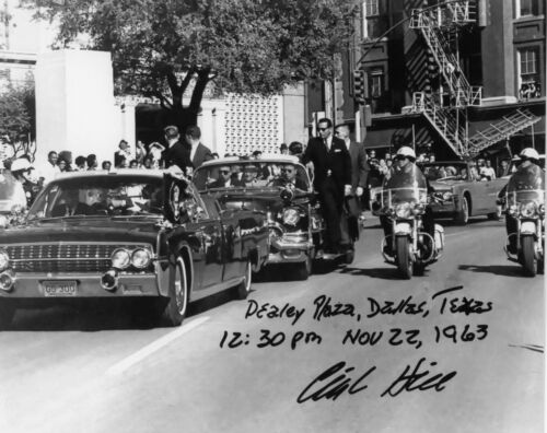 RARE JFK MOTORCADE IN DALLAS  THE LAST DAY SIGNED BY CLINT HILL 22 NOV.63