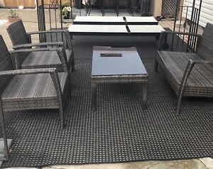 OUTDOOR RESIN WICKER CONVERSATION/PATIO SET