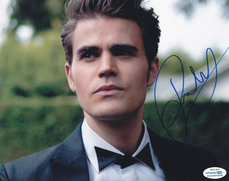Paul Wesley Autographed Signed 8x10 Photo The Vampire Diaries ACOA