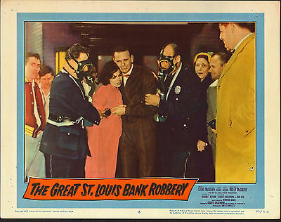 The Great St  Louis Bank Robbery Original 1958 11X14 Movie Poster Southwest Bank