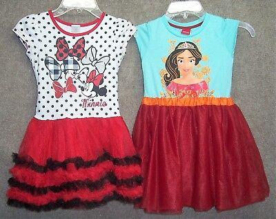 Sz 5-6X MINNIE MOUSE & ELANA of AVALOR Disney Dresses HALLOWEEN COSTUMES - 6x Halloween Costumes