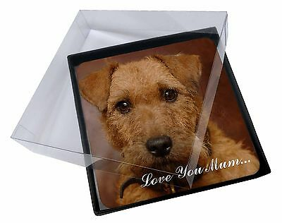 4x Lakeland Terrier Dog 'Love You Mum' Picture Table Coasters Set in, AD-LT2lymC