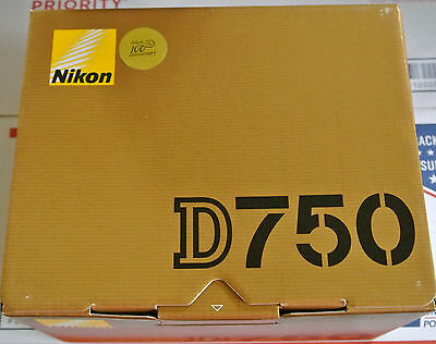 Brand New Nikon D750 Digital SLR Camera Body 24.3MP FX-format