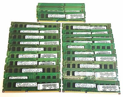 Lot of 25 Samsung M378B2873FHS-CF8 Server Memory 1GB PC3-8500U - 25 GB Total