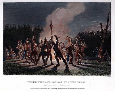 RARE 1857 GEORGE WASHINGTON & FAIRFAX at INDIAN WAR DANCE ~ BLUE RIDGE MOUNTAINS