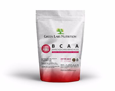 BCAA BRANCHED CHAIN AMINO ACIDS POWDER 454g FREE FORM FREE WORLD SHIPPING