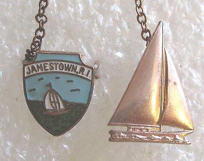 Vintage Jamestown, Rhode Island Travel Souvenir Collector Pin-Saliboat 1950's