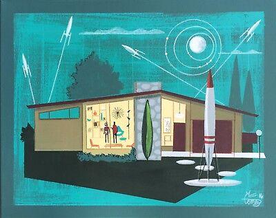 EL GATO GOMEZ RETRO VINTAGE MID CENTURY MODERN EAMES  RANCH HOUSE SCI-FI 1950'S