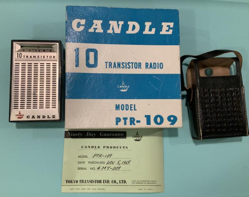 1969 candle 10 transistor radio ptr-109 with origional box.