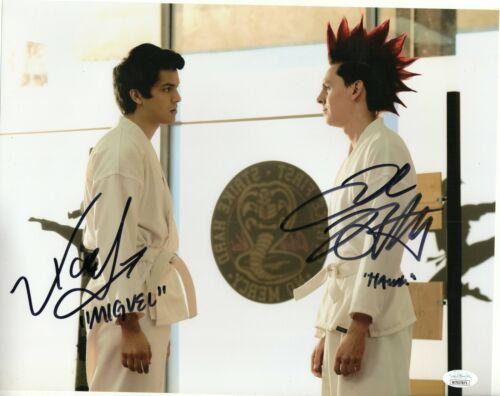 Xolo Mariduena Jacob Bertrand Autograph Signed 11x14 Photo - Cobra Kai (JSA COA)