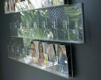 8 Pocket Display Rack Brochure Pamphlet Literature Acrylic Wall Mount