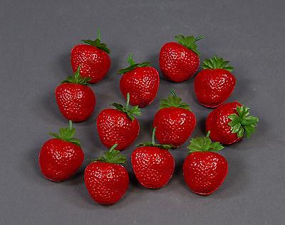 Künstliche Erdbeeren (12 Stück im Beutel) AR Dekoobst Kunstobst künstliches Obst