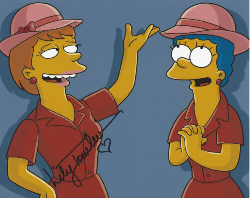 LILY TOMLIN SIGNED AUTHENTIC 'THE SIMPSONS' 8X10 PHOTO w/COA COMEDIAN ACTRESS