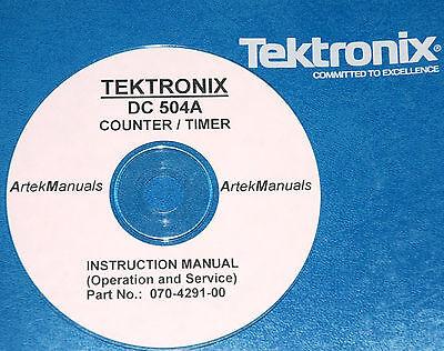Tek Dc504a Dc-504a Dc 504a Service Operations Manual