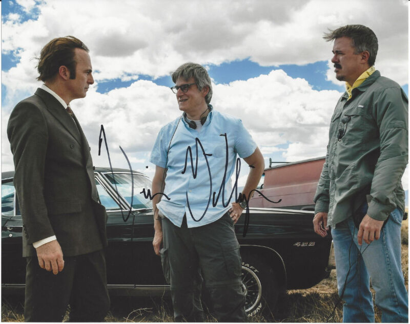 VINCE GILLIGAN SIGNED AUTHENTIC 'BETTER CALL SAUL' 8X10 PHOTO w/COA BREAKING BAD