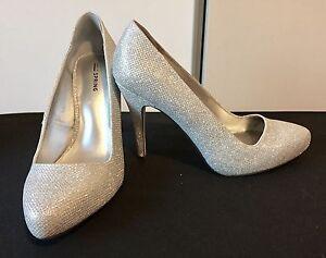 Silver heels - Size 10