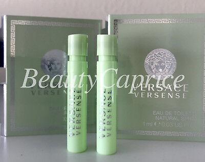 2 Samples x1ml Versense Versace Eau de Toilette Spray Vial Free P&P