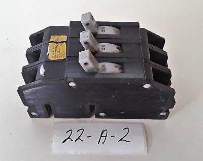 Zinsco Magnetrip Type T-24 Circuit Breaker 3 Pole 40 Amp