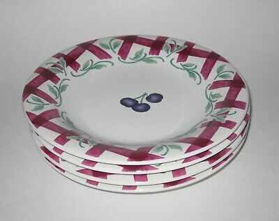 Princess House ORCHARD MEDLEY 4 Accent Salad Plates Excellent Condition