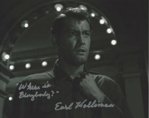 EARL HOLLIMAN SIGNED AUTHENTIC 'THE TWILIGHT ZONE' 8x10 PHOTO B w/COA TV ACTOR