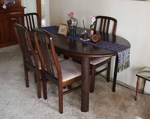 Extendable dining table & 6 chairs Sandgate Brisbane North East Preview