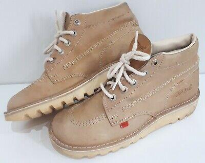 Kickers Kick Hi Boots UK Size 8 Tan Brown Classic Shoes. EU42.