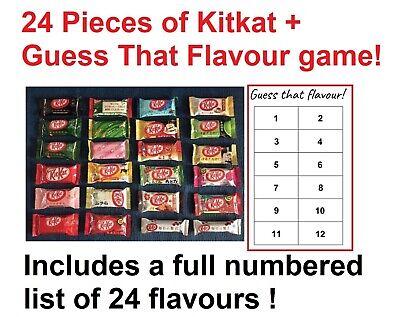 Halloween Kit Kat Flavor (24 Flavors Japanese KitKat Set+ GUESSING GAME - Kit Kats Gift Christmas)