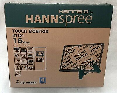 HANNspree HT161HNB Monitor Display 15,6  Multi-Touch USB VGA HDMI 1366x768 TOP Z