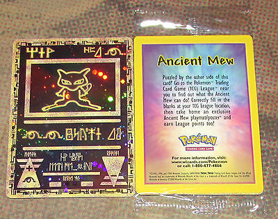 Ancient Mew Pokemon Movie Double HOLO WOTC Black Star Promo MINT SEALED Card