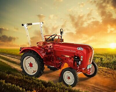 Anzeige-Uhr Fernthermometer für Porsche Diesel Traktor Junior bis Master 5