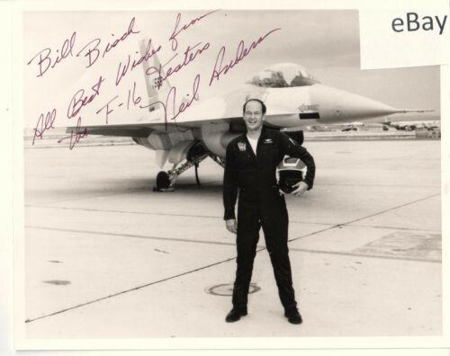 Kodak photo signed by F-16 test pilot Neil R Anderson in 1977/General Dynamics