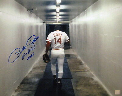 """Pete Rose """"Walking Into Locker Room"""" Autographed Signed 16x20 Photo ASI Proof"""