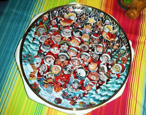 Collectable Decorative Vintage Christmas Plate Santa Claw Limit Edition Figures