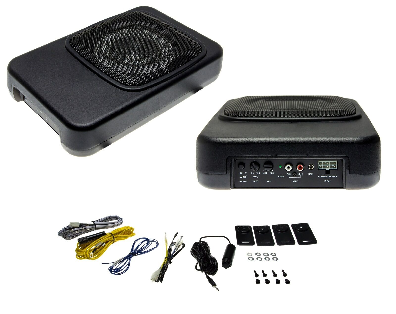 auto subwoofer actif 20cm 8 zoll hifi voiture haut parleur 180w basse box ebay. Black Bedroom Furniture Sets. Home Design Ideas
