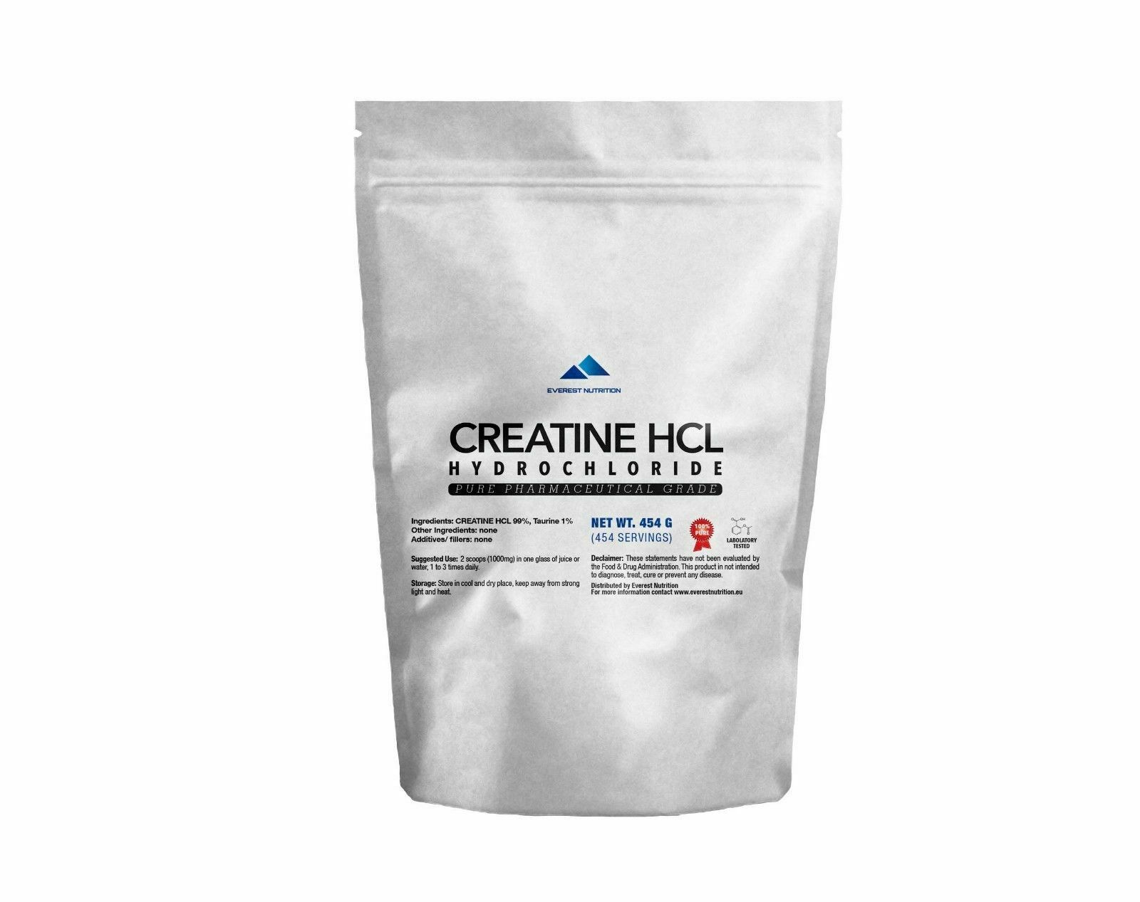 CREATINE HCL HYDROCHLORIDE 100% PURE PHARMACEUTICAL QUALITY POWDER