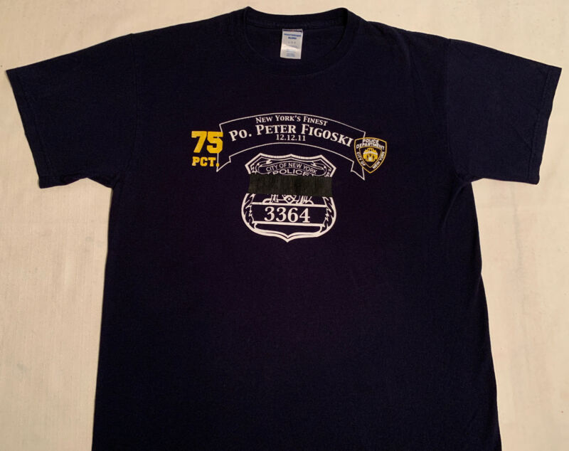 NYPD New York City Police Department NYC T-Shirt Sz L