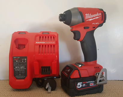 Milwaukee 18v Fuel Impact Driver + 5ah Battery + Charger