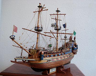 Antik Schiff Holzschiff Kriegsschiff Segelschiff Schiffsmodell Holz GROSS
