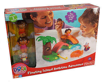 Dora the Explorer Floating Island Bath Time Adventure ~ Includes 3 Figures ~ - Floating Island Bath