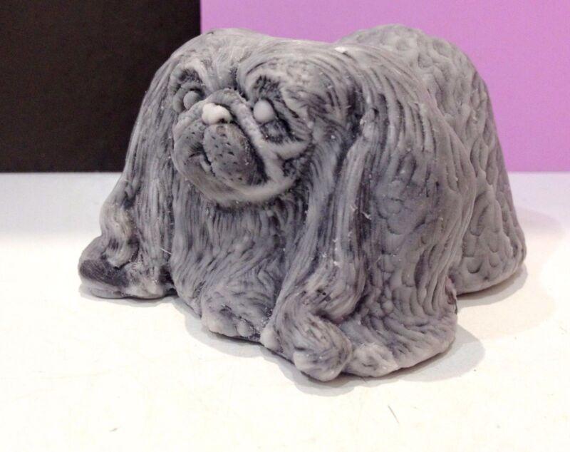 Pekingese figurine dog Marble crumb