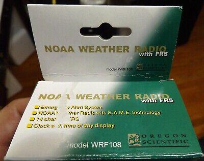 Oregon Scientific NOAA WRF108 Weather Radio with 14 Channel FRS @ 2 Mile Range Oregon Scientific Range