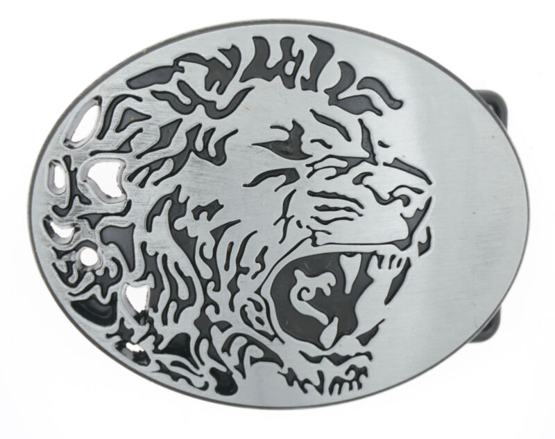Roaring Lion Head Metal Belt Buckle
