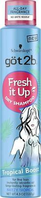 Got2b Fresh It Up Dry Shampoo Tropical Boost 4.3 oz Best for Fine